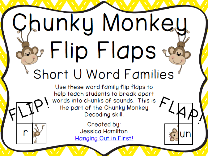 http://www.teacherspayteachers.com/Product/Chunky-Monkey-Flip-Flaps-Short-U-Word-Families-1113307