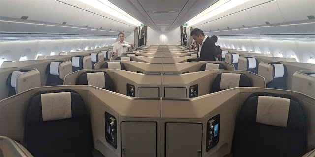Airbus A350-1000 Cathay Pacific Business Class Seating