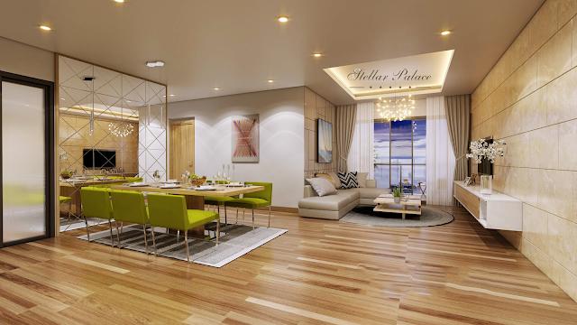 Phòng khách chung cư Stellar Palace