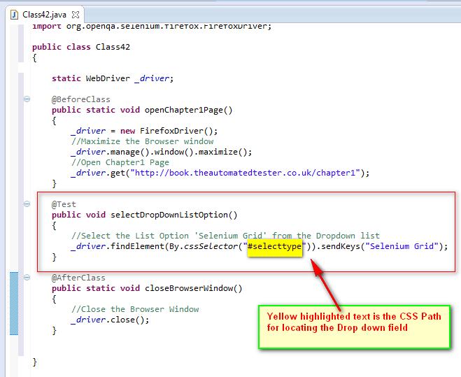 SeleniumTwo (QAFox com): 123  Using sendKeys( ) command to