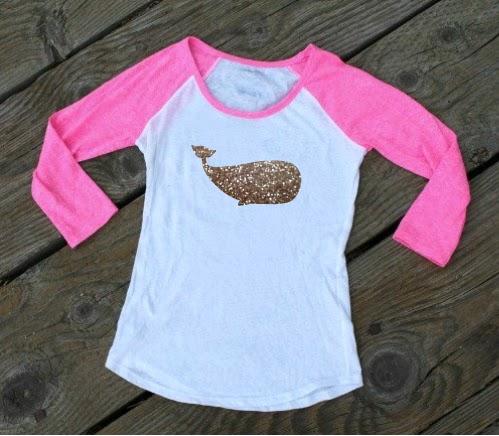 Silhouette Studio glitter heat transfer viny htvl mockup raglan shirt baseball shirt whale