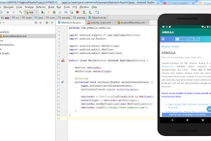 Membuat Aplikasi Web Android dengan Android Studio