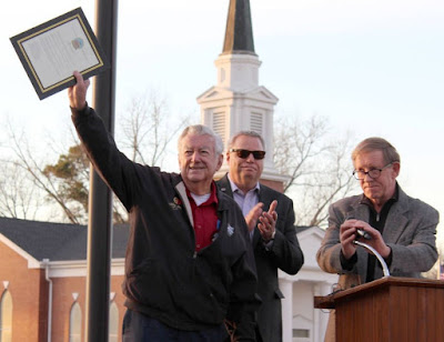 Bobby Allison Inducted To City Of Hampton Speedway Lane Hall Of Fame - #NASCAR