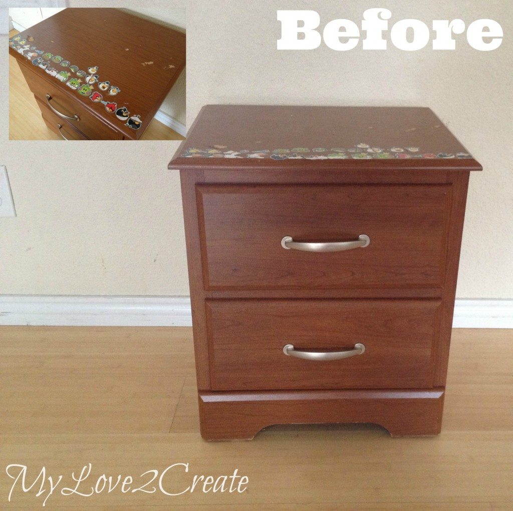 MyLove2Create, Night Stand Makeover, before