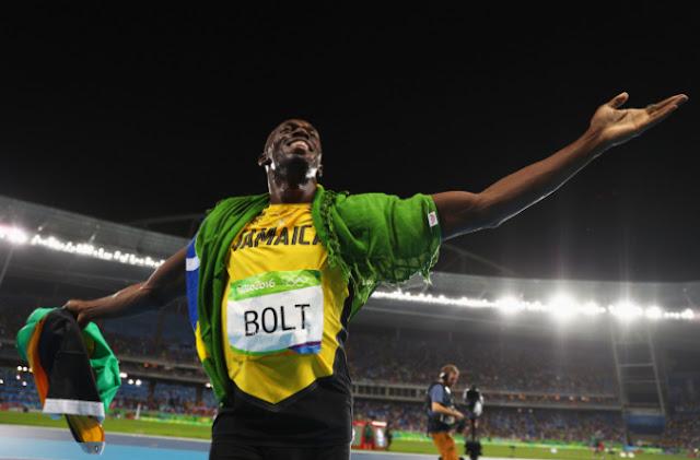 Record de Usain Bolt de 9 medallas de oro tras ganar la posta 4x100 con Jamaica por tercera vez consecutiva en Juegos Olímpicos