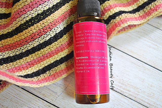 Vilvah Beautifying Serum How to Use Ingredients