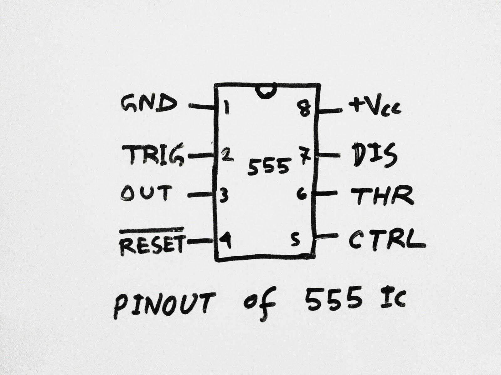 Led Flasher Using 555 Timer Ic