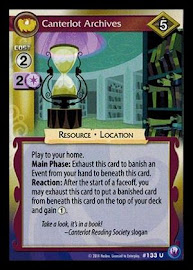 My Little Pony Canterlot Archives Canterlot Nights CCG Card