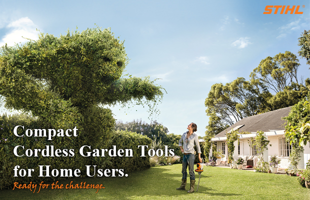 Compact Cordless Garden Tools for Home Users ready for the challenge