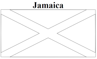 Jamaica flag coloring page for Jamaica flag coloring page