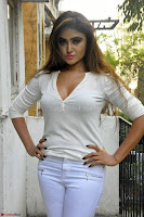Sony Charishta in White Top and Denim jeans ~  Exclusive Galleries 021.jpg