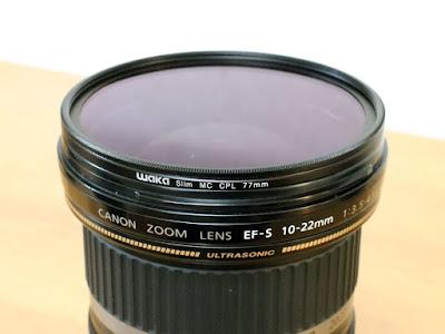 Canon EF-S10-22mm F3.5-4.5 USMにwaka C-PLフィルター ウルトラスリム 77mmを装着してみました。