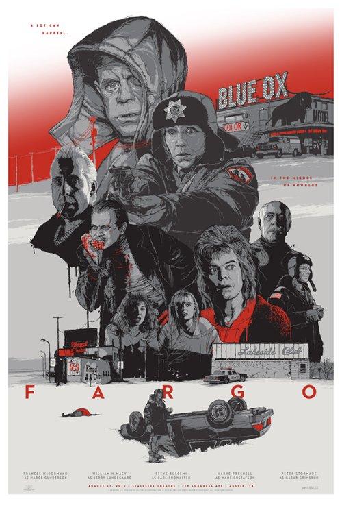 Grzegorz Domaradzki ilustrações cartazes pôsteres filmes arte cinema Fargo (Fargo: Uma Comédia De Erros)