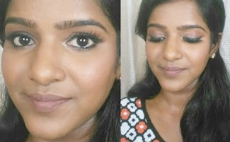 Daily Simple Glam Smudged liner look on dusky skin