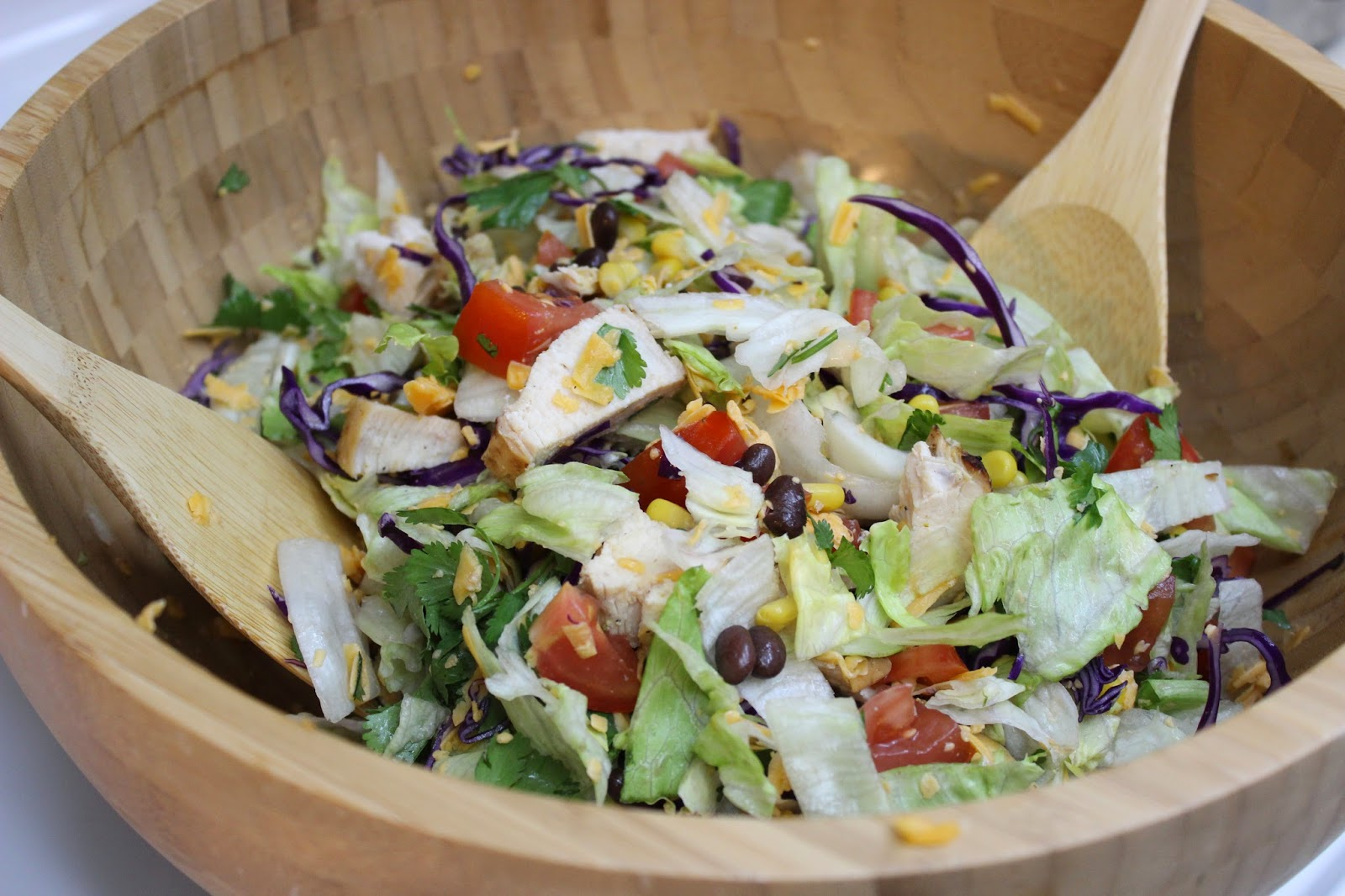 Salad From El Pollo Loco With The Cilantro Dressing I Found A Recipe Online For Lime Ranch And Created My Own Version Of