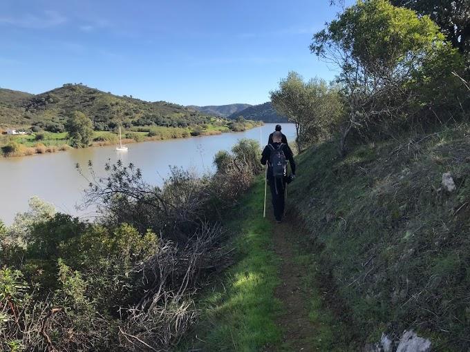 Caminata sobre el Guadiana