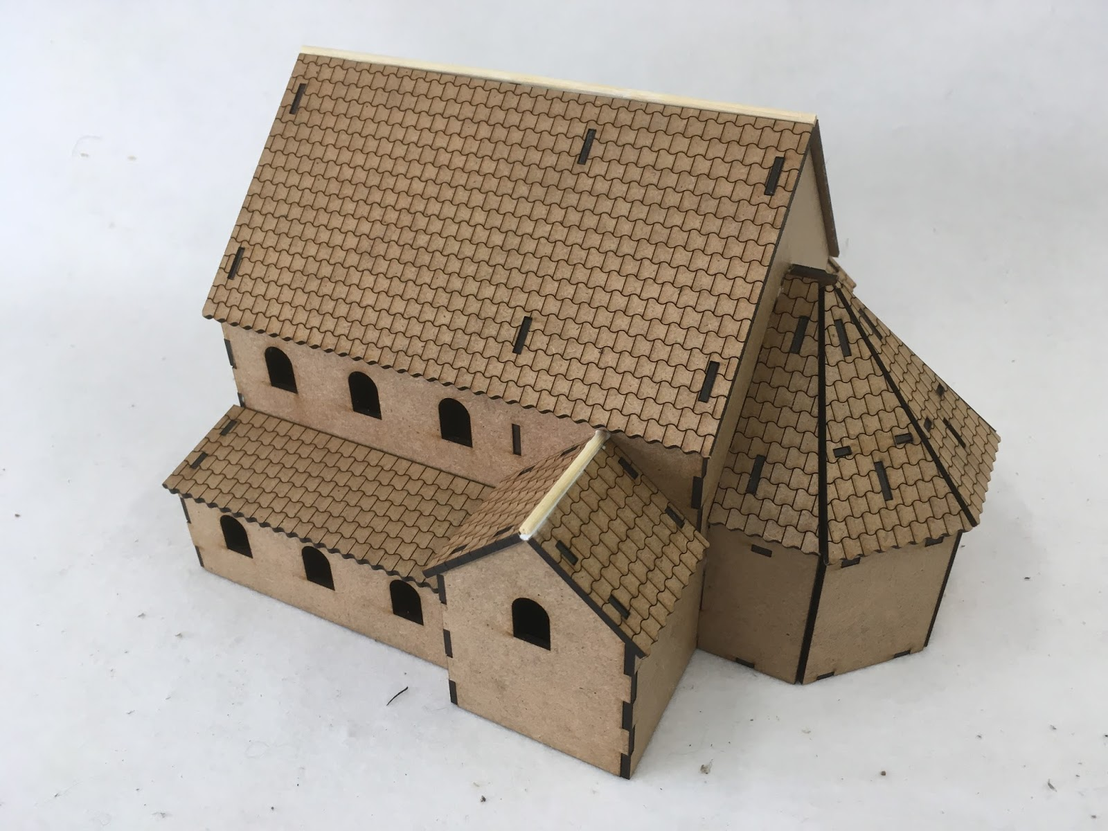 how to make a roman villa out of paper