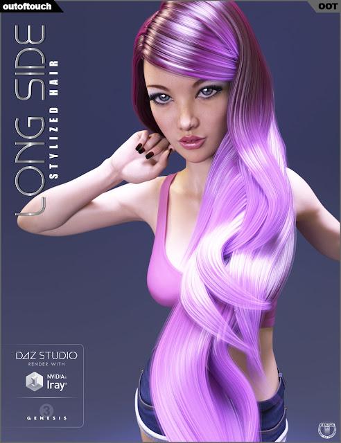 Long Side Hair for Genesis 3 Female