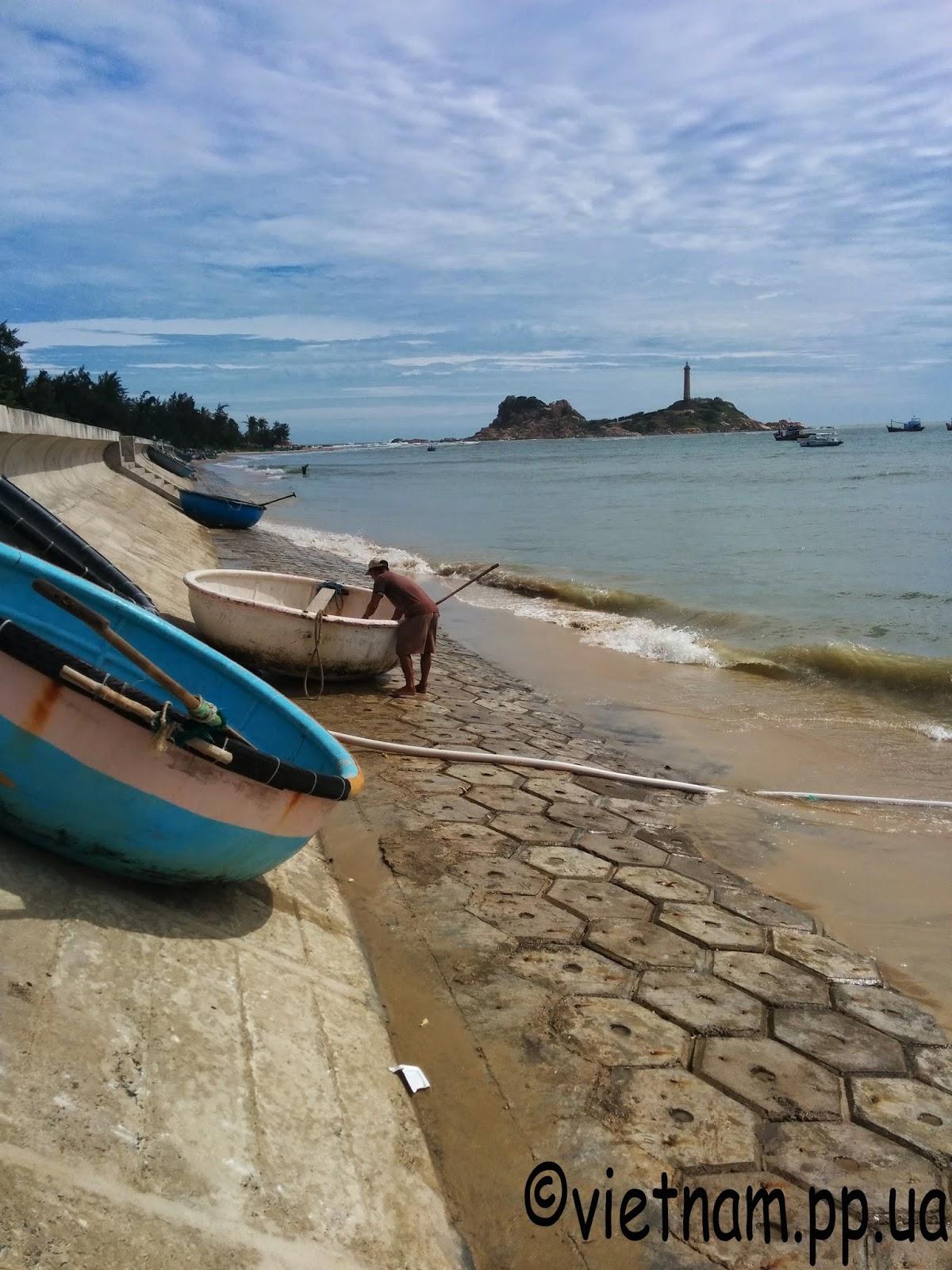 Вьетнамские круглые лодки