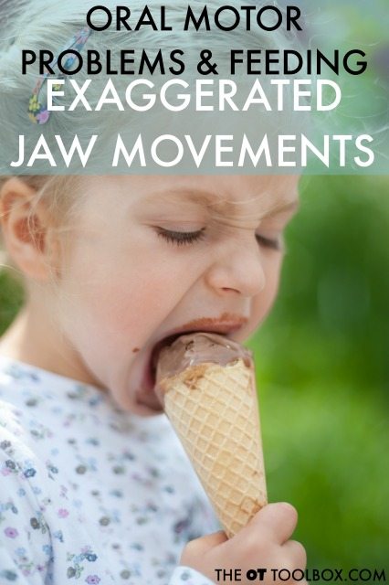 Exaggerated jaw movements are an oral motor problem that interfere with feeding including eating and drinking. Here are reasons why this oral motor issue happen and how it relates to feeding in kids.