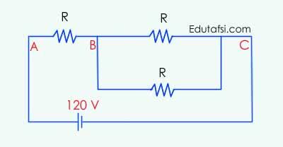 Contoh soal dan pembahasan perihal listrik dinamis CONTOH SOAL RANGKAIAN HAMBATAN MENENTUKAN BEDA POTENSIAL