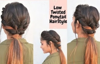 Quick & Easy Twisted Ponytail Hairstyle in hindi /Messy Ponytail Hairstyle