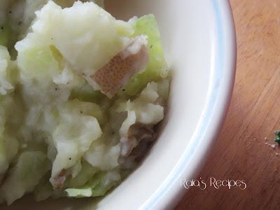 Garlic & Parmesan Colcannon by Raia's Recipes