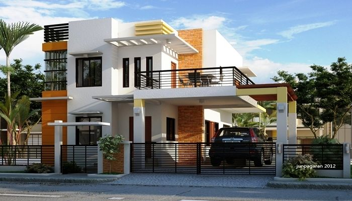 ツ 75 Model Desain Rumah Minimalis 2 Lantai Sederhana Modern Tampak