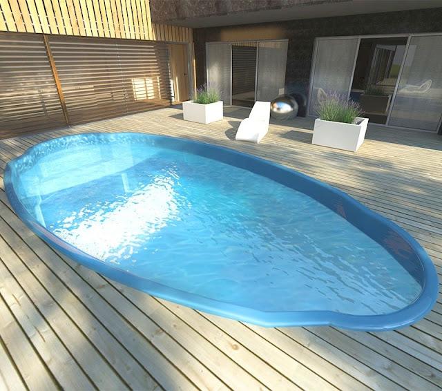 piscina de fibra pré-moldada