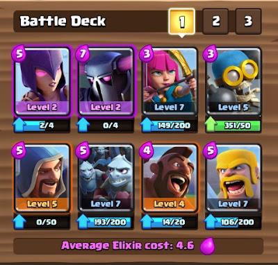 Deck Clash Royale Arena 5