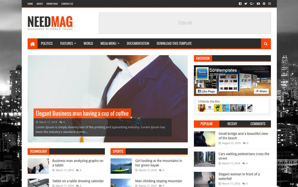 NeedMag Responsive Blogger Template