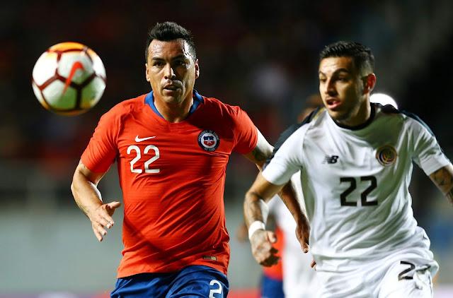 Chile y Costa Rica en partido amistoso, 16 de noviembre de 2018