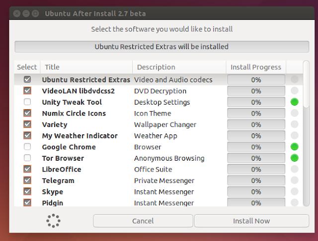Conheça o Ubuntu After Install 2.7 Beta e tenha aplicativos mais úteis no seu Ubuntu e derivados!