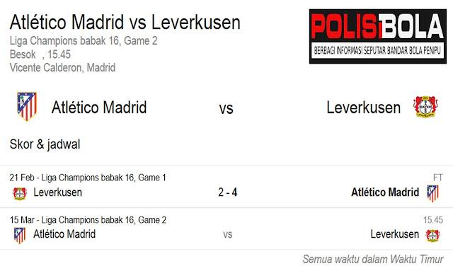 Prediksi Skor Atletico Madrid vs Bayer Leverkusen | Polisibola.com