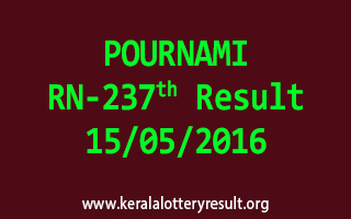 POURNAMI RN 237 Lottery Result 15-5-2016