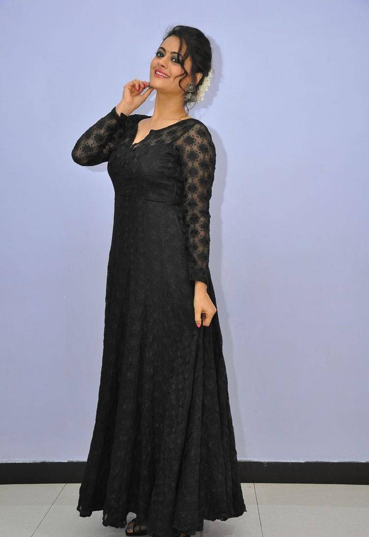 Actress Shruti Sodhi In Black Dress At Film Audio Launch