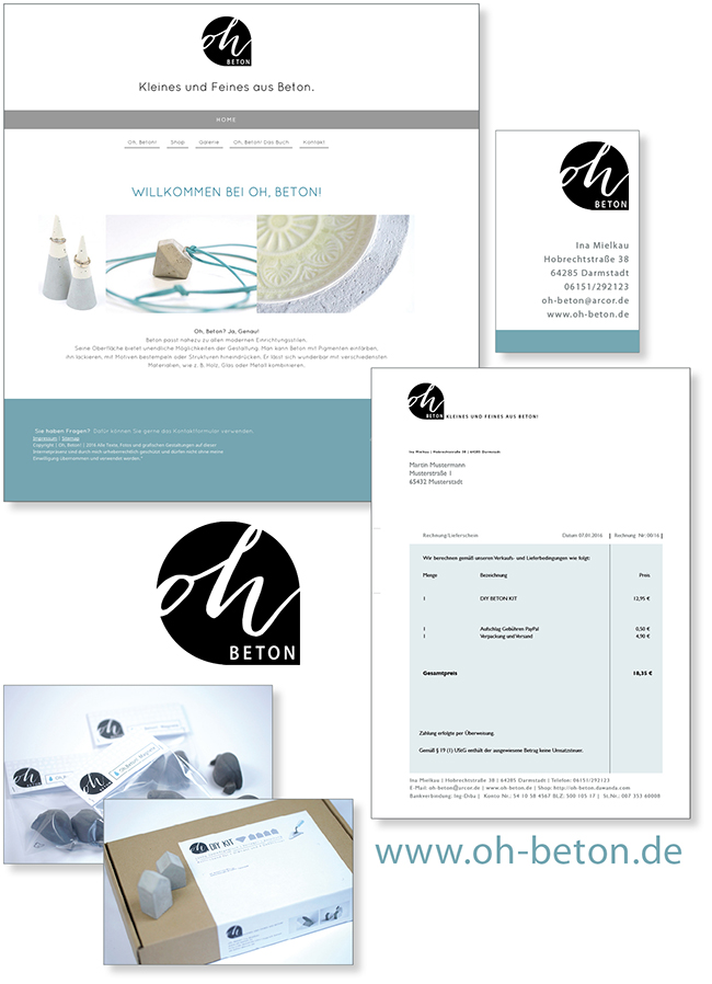 Ynas Design Blog   Oh,Beton! - Website