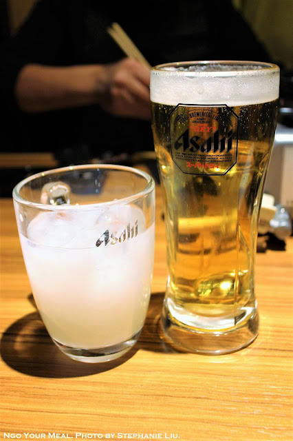 Draft Beer and Calpis at Matsusaka Yakiniku M