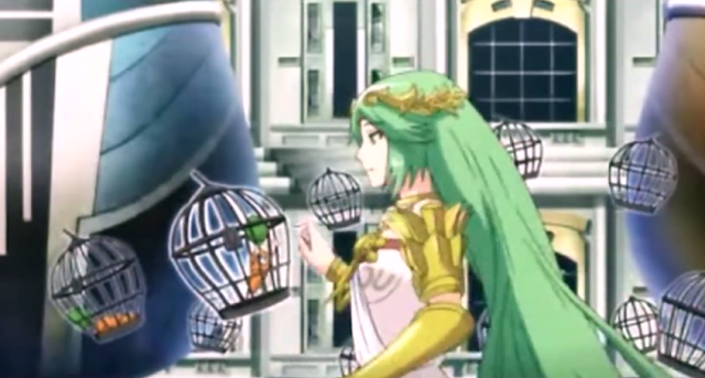 Palutena's Revolting Dinner Power of Caging Kid Icarus Uprising animation Lady Palutena dominatrix