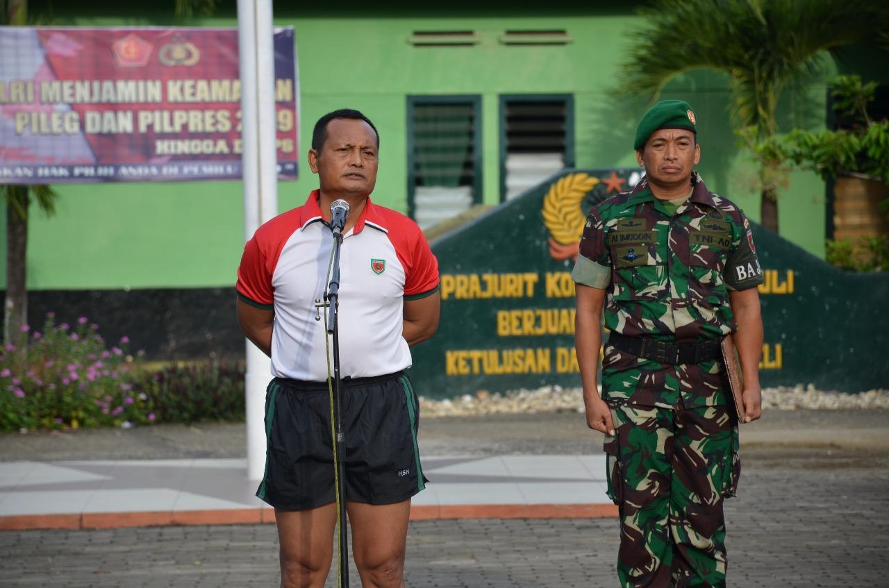 Personel Korem dan Balakrem serta PNS 141/Tp Laksanakan Senam Pagi Bersama