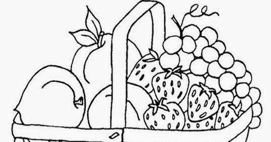 Gambar Mewarnai Buah Buahan Dan Sayuran Kreasi Warna