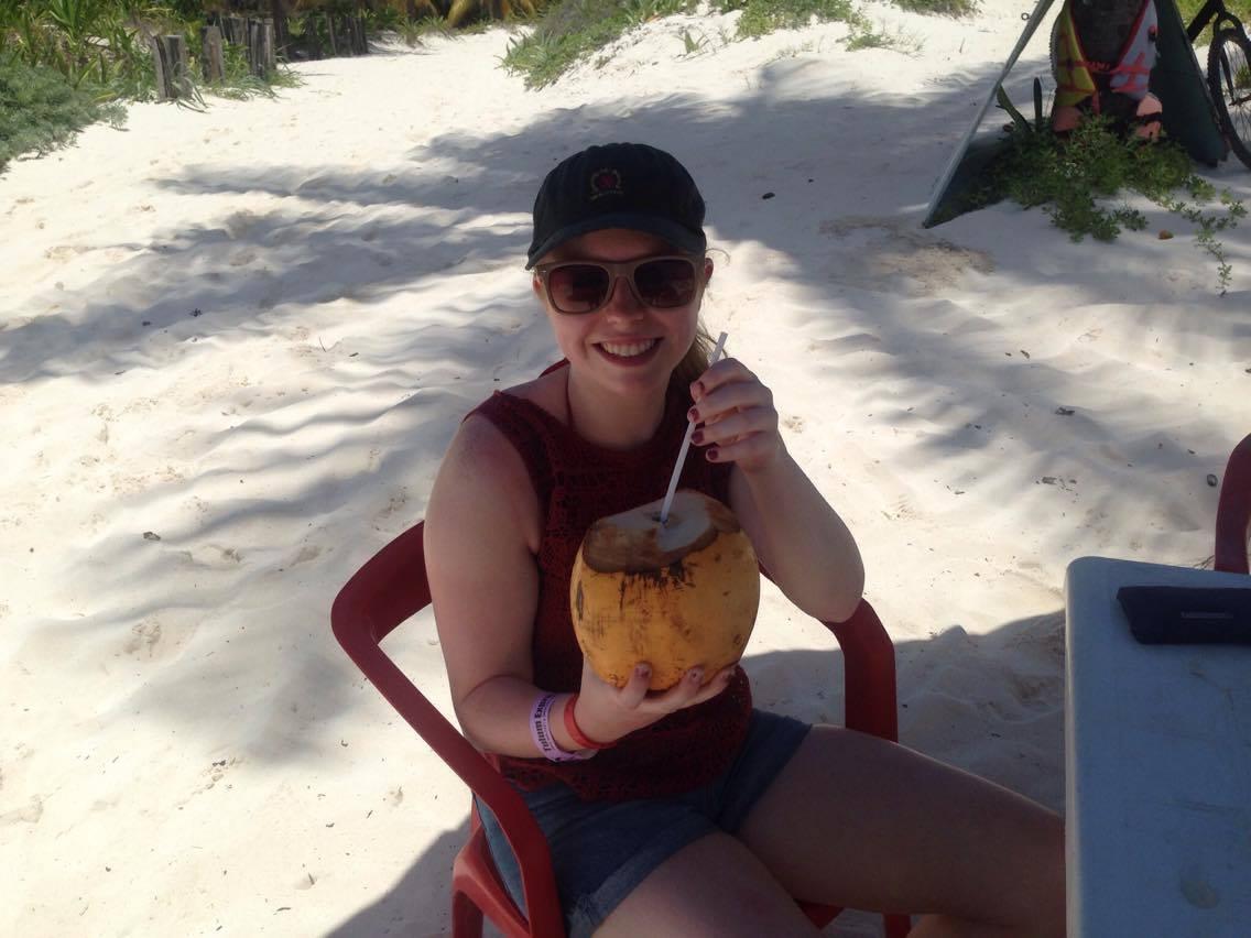 mexico, tulum, holiday, playa del carmen, nature, coconuts, drinking, playacar, excursion, beach