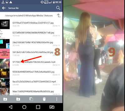 Menyimpan video dan foto dari status ke galeri