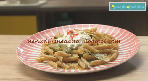 Pronto e postato - Pennette stracciatella e puntarelle ricetta Benedetta Parodi