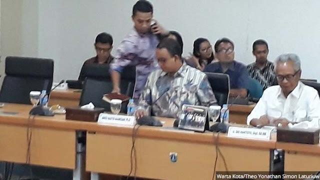 Anies Rapat Pertama di DPRD, Seluruh Fraksi Hadir Kecuali PDIP