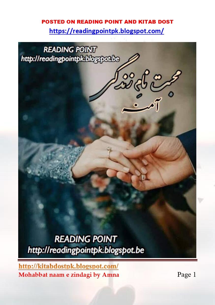 Mohabbat Naam E Zindagi By Amna Forced Marriage Urdu Novel | Read