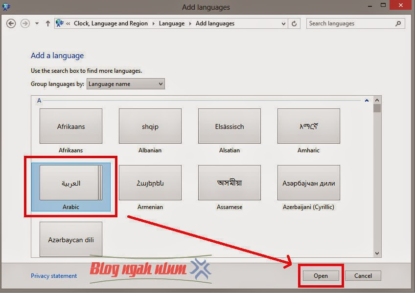 Cara Menulis Huruf Arab di Microsoft Word Windows 8