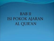 Ajaran Pokok Al-Qur'an