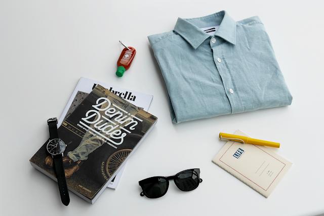 Hugo Boss layout and denim dudes book