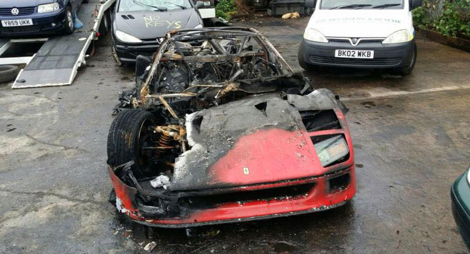 Ferrari F40 Destroyed By Fire After Recent Restoration